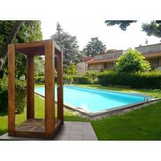 Doccia solare  in legno