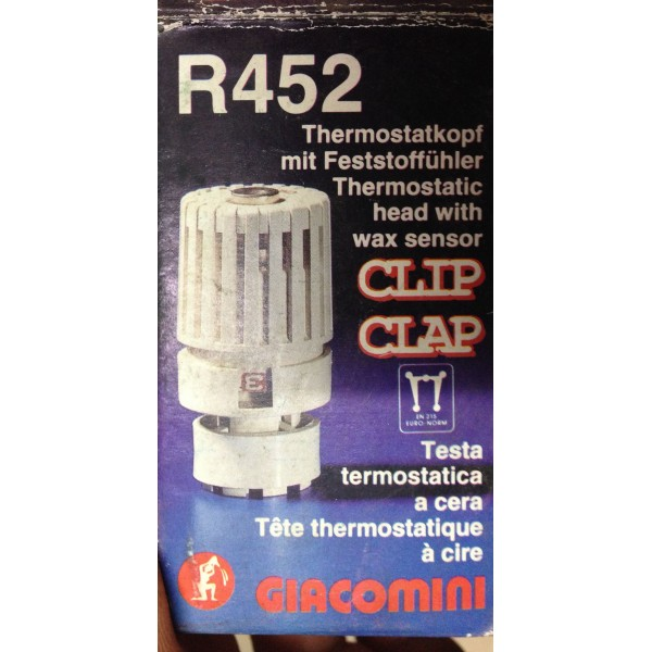 Testina termostatica giacomini esuberi idraulici for Testina termostatica